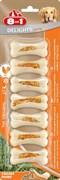8in1 DELIGHTS Strong XS косточки сверхпрочные с куриным мясом для мелких собак 7,5 см 7 шт