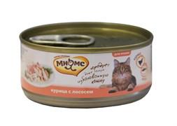 Консервы Мнямс для кошек Курица с Лососем в нежном желе 70 г