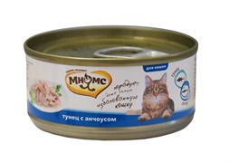 Консервы Мнямс для кошек Тунец с анчоусами в нежном желе 70 г