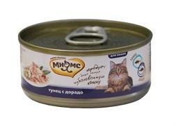 Консервы Мнямс для кошек Тунец с дорадо в нежном желе 70 г