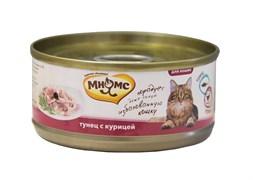 Консервы Мнямс для кошек Тунец с курицей в нежном желе 70 г