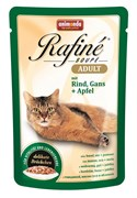 Паучи для кошек Animonda Rafiné Soupé Adult  с говядиной, мясом гуся и яблоком