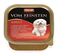 Консервы для собак Animonda Vom Feinsten Adult с говядиной и сердцем индейки