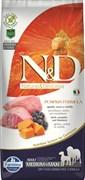 Беззерновой корм Farmina ND Ягненок с черникой и тыквой для взрослых собак средних и крупных пород