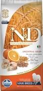 Низкозерновой корм Farmina ND Рыба с апельсином для взрослых собак крупных пород