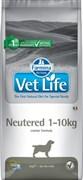 Корм Farmina Vet Life Neutered для кастрированных/стерилизованных собак весом до 10 кг