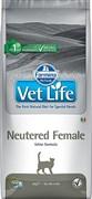 Корм Farmina Vet Life Neutered Female диета для стерилизованных кошек