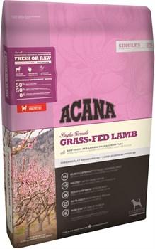 Беззерновой сухой корм ACANA Singles GRASS-FED LAMB для собак с чувствительным пищеварением с янгенком - фото 10104