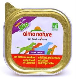 Паштет ALMO NATURE Bio Pate Beef Vegetables для взрослых собак с говядиной и овощами - фото 10190