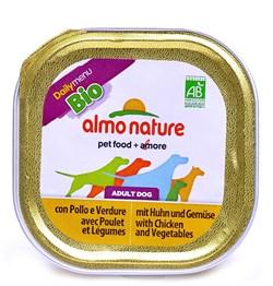 Паштет ALMO NATURE Bio Pate Chicken Vegetables для взрослых собак с курицей и овощами - фото 10194