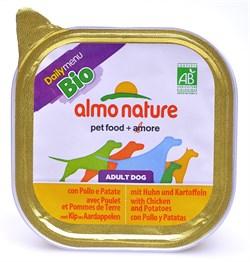 Паштет ALMO NATURE Bio Pate Chicken/Potatoes для взрослых собак с курицей и картофелем - фото 10196