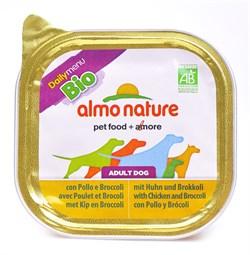 Паштет ALMO NATURE Bio Pate Chicken Brocolli для взрослых собак с курицей и брокколи - фото 10197