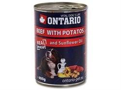 Консервы ONTARIO для собак с говядиной и картофелем - фото 10221