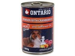 Консервы ONTARIO для собак с олениной и клюквой - фото 10230
