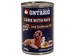 Консервы ONTARIO для собак с ягненком и рисом Lamb, Rice, Sunflower Oil - фото 10234