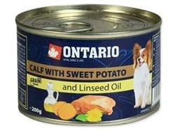 Консервы ONTARIO для собак малых пород с телятиной и бататом - фото 10241