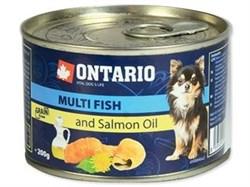 Консервы ONTARIO для собак малых пород с рыбой - фото 10243