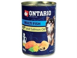 Консервы ONTARIO для собак с рыбой Multi Fish and Salmon oil - фото 10245