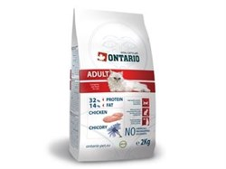 Сухой корм ONTARIO для взрослых кошек с курицей - фото 10247