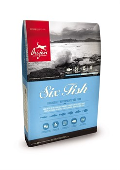 Беззерновой сухой корм ORIJEN Adult Dog Six Fish для взрослых собак всех пород и возрастов 6 видов рыб - фото 10276