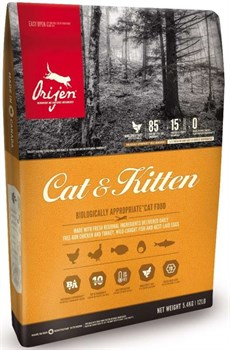 Беззерновой сухой корм ORIJEN Cat and Kitten для котят и кошек - фото 10286