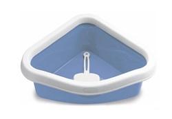 Туалет угловой Stefanplast Sprint Corner, с рамкой и совочком, 40*56*14см - фото 10326