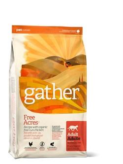 Органический сухой корм GATHER Organic Free Acres Chicken CF для взрослых кошек с курицей - фото 10400