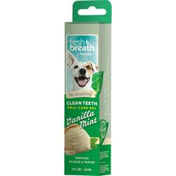 Гель для чистки зубов Tropiclean с ванилью и мятой для собак 59 мл - фото 10444