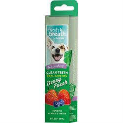 Гель для чистки зубов Tropiclean ягодный для собак 59 мл - фото 10446