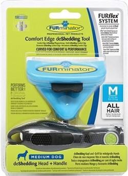 FURminator FURflex Комбо против линьки M для собак средних пород - фото 10481