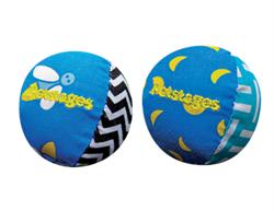 Игрушка Petstages для кошек Мяч текстильный для ночных игр 4 см 2 шт - фото 10637