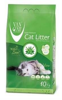 Комкующийся наполнитель VAN CAT Aloe Vera с ароматом алоэ вера без пыли - фото 10686