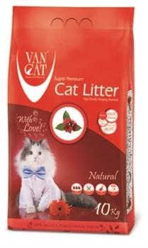 Комкующийся наполнитель VAN CAT натуральный без пыли и запаха 10 кг