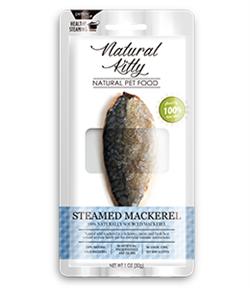 Лакомство Pettric Natural Kitty для кошек Скумбрия, запеченная на гриле Steamed Mackerel 30 гр - фото 10758