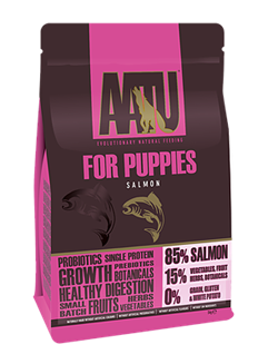 Беззерновой cухой корм AATU Puppy Salmon для щенков с лососем - фото 11117