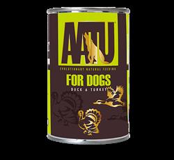 Консервы беззерновые AATU для собак с уткой и индейкой (DUCK/TURKEY)