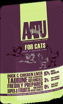 Пауч AATU для взрослых кошек с уткой и куриной печенью - фото 11159