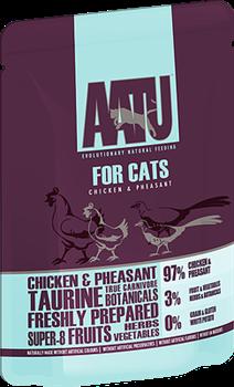 Пауч AATU для взрослых кошек с курицей и фазаном - фото 11163