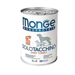 Паштет MONGE Monoprotein Solo для собак с индейкой - фото 11174