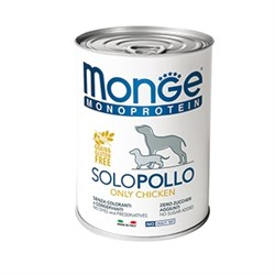 Паштет MONGE Monoprotein Solo для собак с курицей - фото 11177