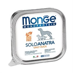 Паштет MONGE Monoprotein Solo для собак с уткой - фото 11182