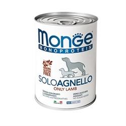 Паштет MONGE Monoprotein Solo для собак с ягненком - фото 11183