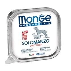 Паштет MONGE Monoproteico Solo для собак с говядиной - фото 11188