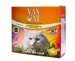 Комкующийся наполнитель VAN CAT натуральный без пыли и запаха (коробка) 10 кг - фото 11205