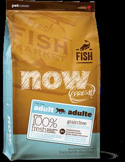 Беззерновой сухой корм NOW Fresh с форелью и лососем для взрослых кошек с чувствительным пищеварением (Grain Free Fish Adult Recipe) - фото 11269