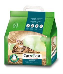 Древесный комкующийся наполнитель Cat's Best Sensetive (Green Power) - фото 11275