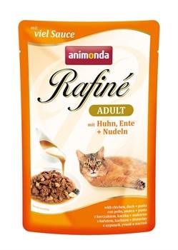 Пауч ANIMONDA Rafin Soup Adult для взрослых кошек с курицей уткой и пастой - фото 11280