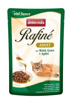Пауч ANIMONDA Rafin Soup Adult для взрослых кошек с говядиной мясом гуся и яблоком - фото 11281