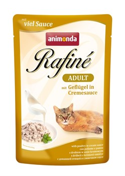Пауч ANIMONDA Rafin Soup Adult для взрослых кошек с домашней птицей в сливочном соусе - фото 11282