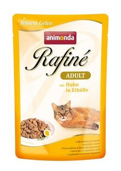 Пауч ANIMONDA Rafin Soup Adult для взрослых кошек с курицей в яичном пудинге - фото 11286